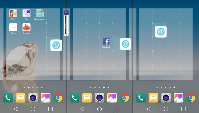 lg aristo add new home screen