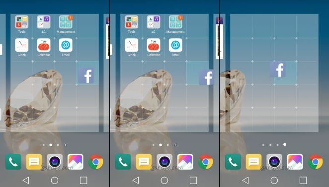 lg aristo add home screen