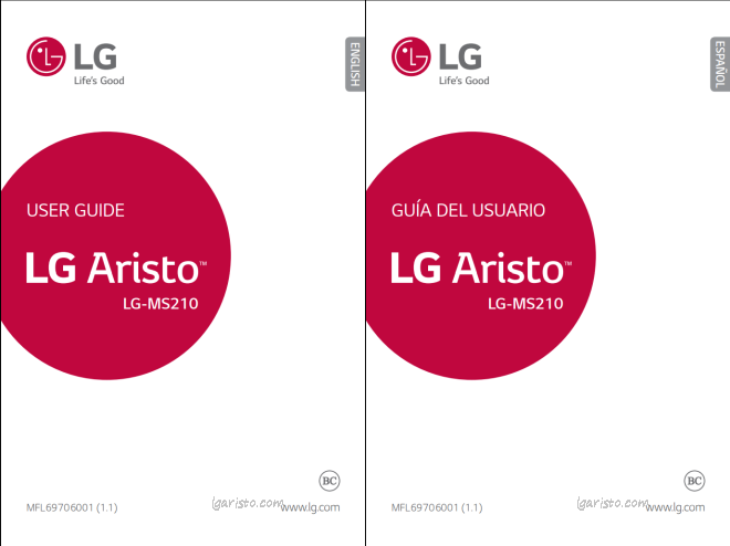 LG Aristo User Manual/Guide PDF Download-MS210 MetroPCS & T Mobile