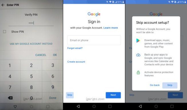 bypass google account lg aristo 3