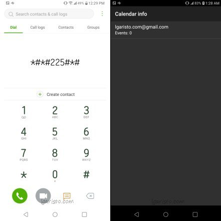LG Aristo 4 Plus Secret Dialer Code for Calendar Info