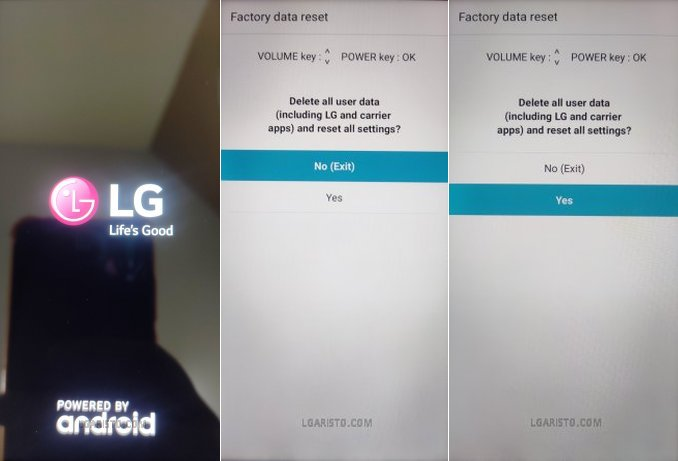 lg aristo 3 forgot password