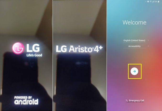 lg aristo 3 plus forgot password