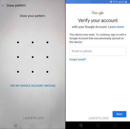 lg aristo 4 bypass google account