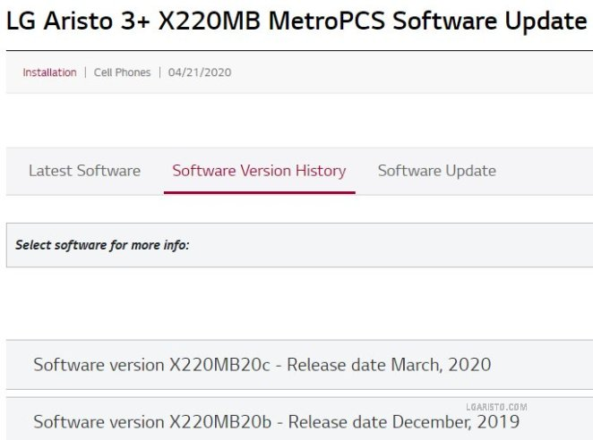 lg lm-x220mb android 10 update