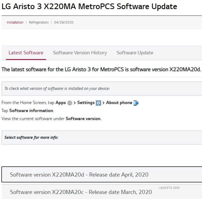 lg lm-x220ma android 10 update
