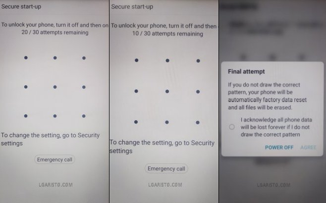lg aristo 4 secure startup bypass