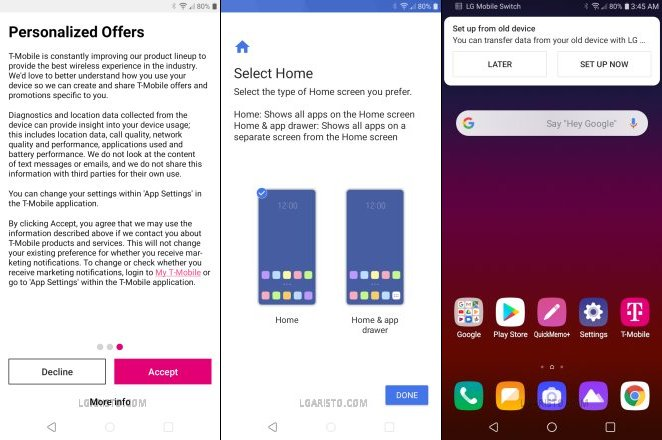 secure startup bypass lg aristo 4 plus