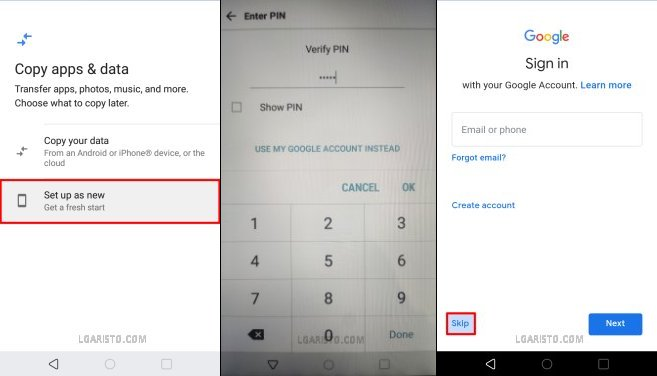 lg aristo 2 lock screen bypass without reset