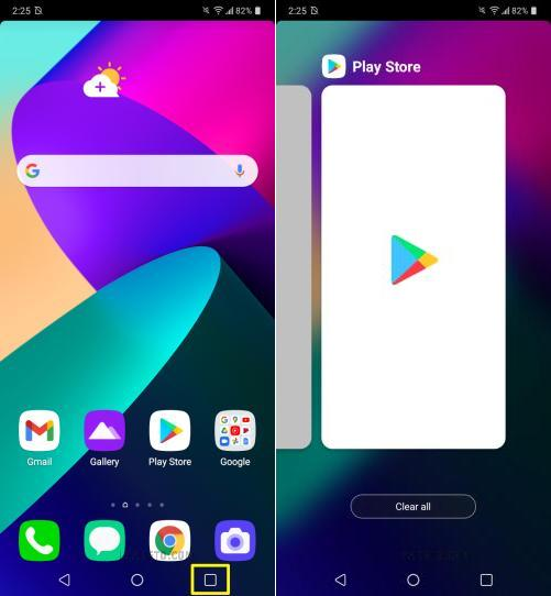 how to close apps on lg phoenix 5