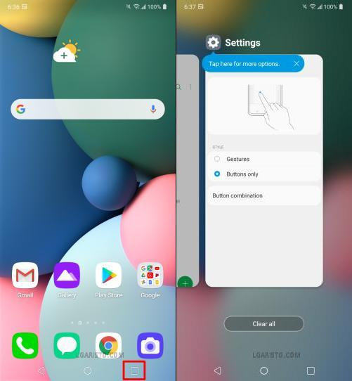 lg fortune 3 how to close apps